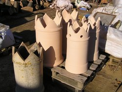 Castellated chimney pots