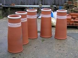 Handthrown And Handmade Terracotta Chimney Pots