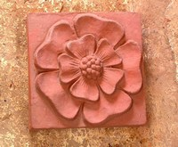 Tudor rose relief tile